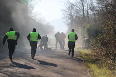 полиции офицера действия Стоковые Фотографии RF