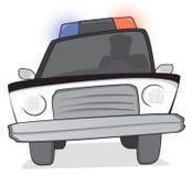 Полиции патрулируют на гоньбе бесплатная иллюстрация