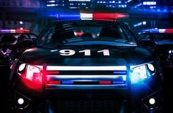 Полиция в концепции действия Стоковое Изображение
