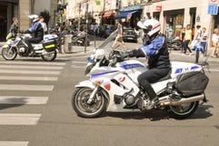 Полиция в Париже, Франции Стоковое Изображение