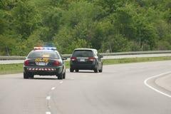 Полиция гонит стоковое изображение rf