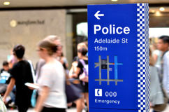 Полиция Квинсленда - Австралия Стоковое фото RF