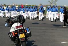 Полиция на Bloemencorso Bollenstreek один из парадов цветка в Нидерландах и одно самых больших вариантов мира Стоковое Изображение RF