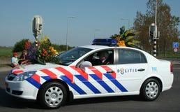 Полиция на bloemencorso Bollenstreek один из парадов цветка в Нидерландах Стоковые Изображения RF