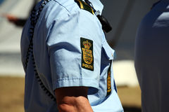 Полиция подписывает на руке полицейских Стоковые Изображения RF