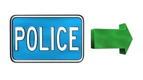 Полиция подписывает бесплатная иллюстрация