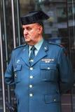 Полиция Minstry жандарма Правосудия Puerta del Sol Ворот  Стоковое Фото