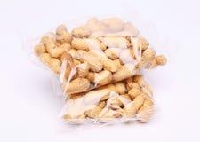 2 полиэтиленового пакета арахисов Стоковая Фотография