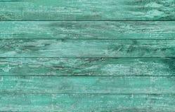Пол или стена голубого зеленого цвета деревянный Стоковые Изображения