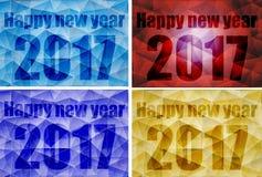 Поли счастливый дизайн Нового Года 2017 Стоковое Изображение RF