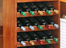 Полка бутылки вина Стоковое Изображение RF