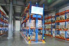 Полка склада стоковая фотография