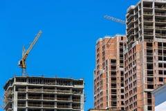 Под конструкцией много здания пола монолитового Стоковая Фотография RF
