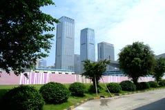 Под-конструкция небоскреба Китая современная стоковое изображение