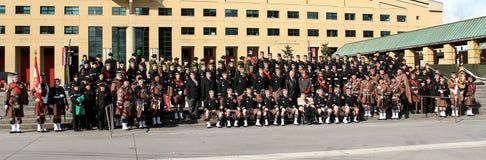 Полк 1 Торонто шотландский стоковая фотография