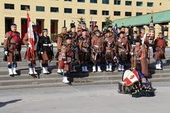 Полк 9 Торонто шотландский стоковые фото