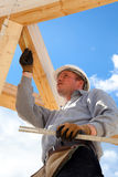 Подлинный рабочий-строитель Стоковые Фото