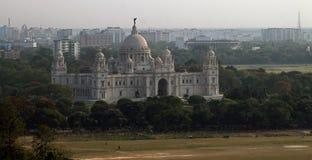 по мере того как здание Британии построило ферзь музея памятника большого мрамора kolkata Индии мемориальный теперь первоначально Стоковое Изображение RF