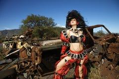 по мере того как одетьнная женщина пирата Стоковая Фотография RF