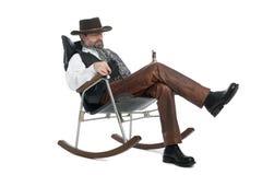 по мере того как одетьнное mauser человека ретро Стоковые Фото