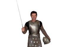 по мере того как одетьнный человек рыцаря Стоковые Изображения RF
