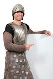 по мере того как одетьнный человек рыцаря Стоковое Изображение RF