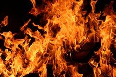 по мере того как предпосылка красивейшая используемая ноча пламени пожара чонсервной банкы Стоковые Изображения