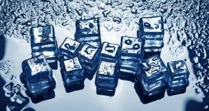 по мере того как предпосылка cubes льдед Стоковые Фотографии RF