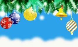 по мере того как предпосылка может используемая тема иллюстрации рождества Стоковые Фотографии RF