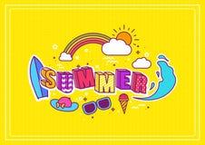 по мере того как предпосылка может используемое лето иллюстрации Стоковое Изображение