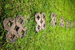 по мере того как предпосылка может используемый камень шагов Стоковое Фото