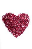 по мере того как pomegranate сердца осеменяет знак Стоковое Изображение RF
