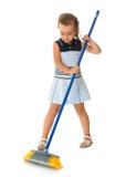 Подметать маленькой девочки Стоковое Изображение RF