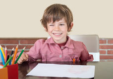 Подмигивать студента ребенка Стоковое фото RF