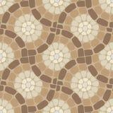 Пол мозаики плитки, каменная картина Стоковое Фото