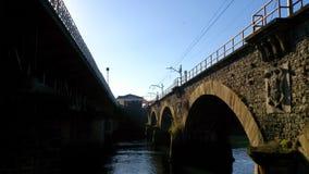 Под мостами Стоковое Фото