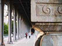 Под мостом, Париж Стоковая Фотография RF