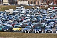 Полная автостоянка Стоковое фото RF