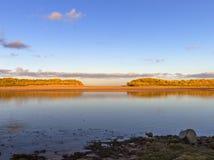 Полная вода Lossie реки. Стоковые Изображения RF
