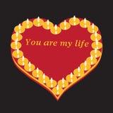 полная влюбленность сердца Стоковое Изображение RF