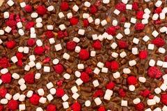 Полная предпосылка рамки сладостного десерта стоковое изображение rf