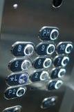 Полная рамка пронумерованных кнопок с Шрифтом Брайля Стоковое Изображение RF