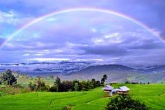 полная радуга стоковое фото rf
