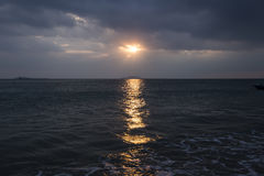 Под небом, красивое море Стоковое фото RF