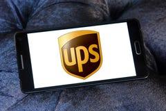 Поднимает почтовый логотип компании по транспортировке грузов Стоковые Фотографии RF