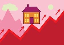 Поднимать дома Иллюстрация штока