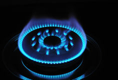 Поднимающее вверх газовой горелки близкое Стоковая Фотография