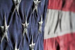 Поднимающее вверх государственного флага США близкое Стоковые Изображения RF