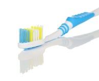 Поднимающее вверх зубной щетки близкое Стоковые Фотографии RF
