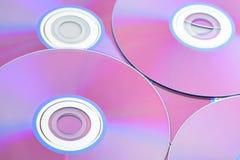 Поднимающее вверх компакт-диска близкое Стоковая Фотография